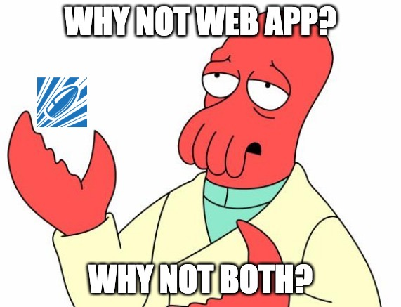 Why not a web application?